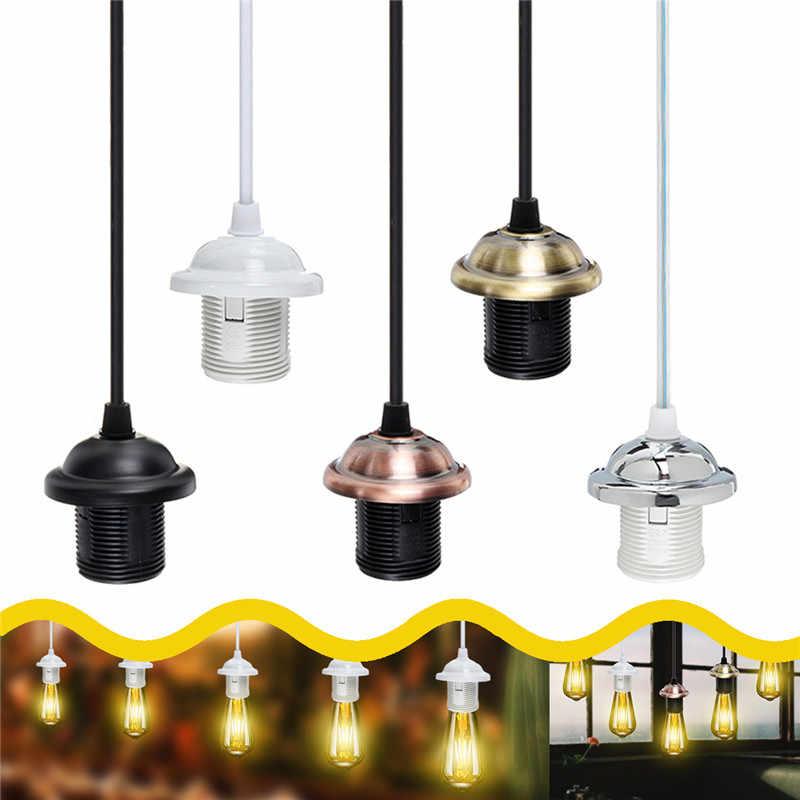 AC110-250V E26/E27 Edison Vintage Retro Pendant Lamp Holder Ceiling Light Base Socket Bulb Adapter
