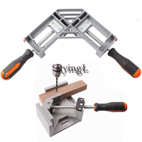 * 1Pc 90 degree Angle Wood Working ClampsAngle Clamps Vise Single Double Handle Two Type Frame Fight Splices Clip Tool