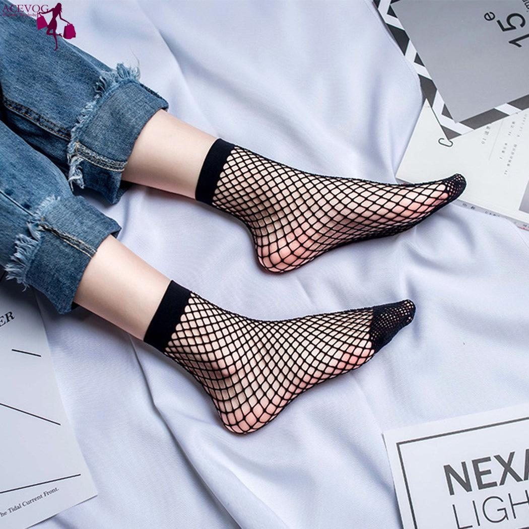 Women   Socks   Out Fishnet Breathable Hollow Casual Solid   Socks   Net White Fashion Ankle Black Mesh