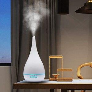 Image 2 - Diffuseur dhuile essentielle et darôme et humidificateur dair de 400ml, brumisateur ultrasonique, 7 couleurs, en forme de Vase, LED ml