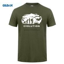 GILDAN est Mens Sleeve Tops Tshirt Homme Bushcraft & Survival Hammocking Evolution Print Men T Shirt Summer
