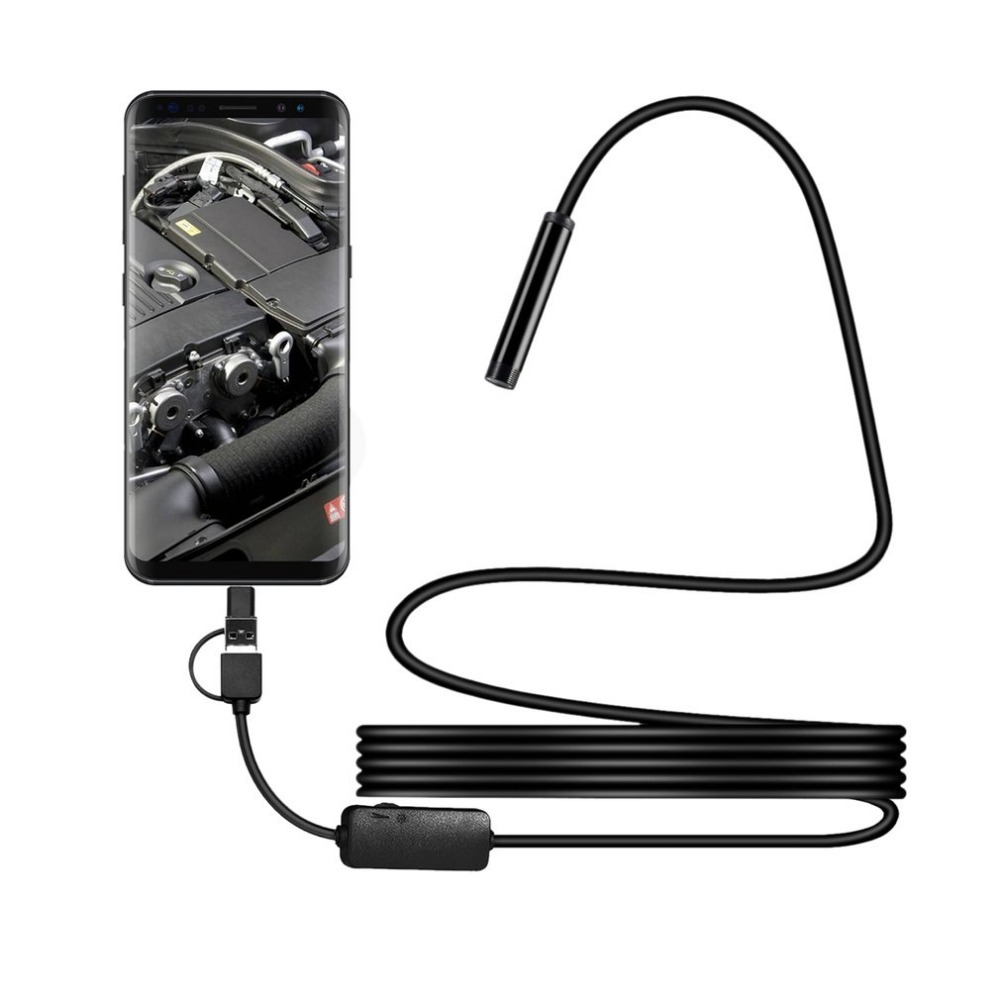 1200P IP68 Android 8MM Micro USB Type-c USB 3-in-1 Computer Endoscope Borescope Tube Waterproof USB Inspection Video Camera1200P IP68 Android 8MM Micro USB Type-c USB 3-in-1 Computer Endoscope Borescope Tube Waterproof USB Inspection Video Camera