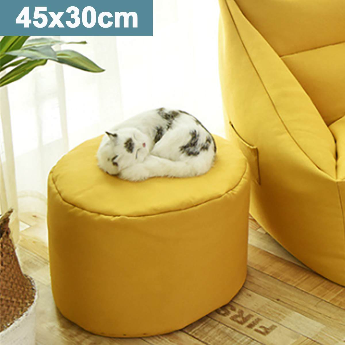 Yellow Large Lazy BeanBag Sofas Waterproof Animal Storage Toy Bean Bag Solid Color Chair Cover Beanbag Sofas Without Lining