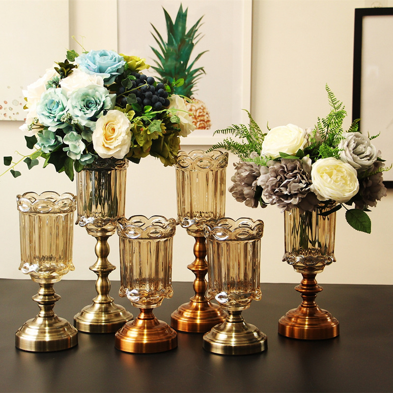 Restore Ways Vase European Home Furnishing Display Rather Than Use Glass Flower KTV Model Flexible Installation
