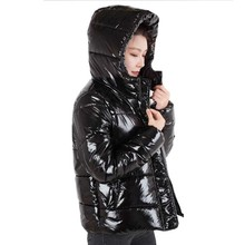 цены Winter New Jacket Women 2018 Black Warm Down Cotton Coat Parka Fashion Loose Bright Color Plus Size Female Padded Jackets Ls032