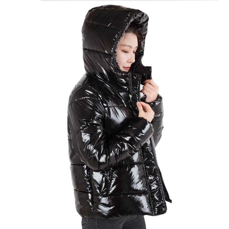 Winter New Jacket Women 2018 Black Warm Down Cotton Coat   Parka   Fashion Loose Bright Color Plus Size Female Padded Jackets Ls032