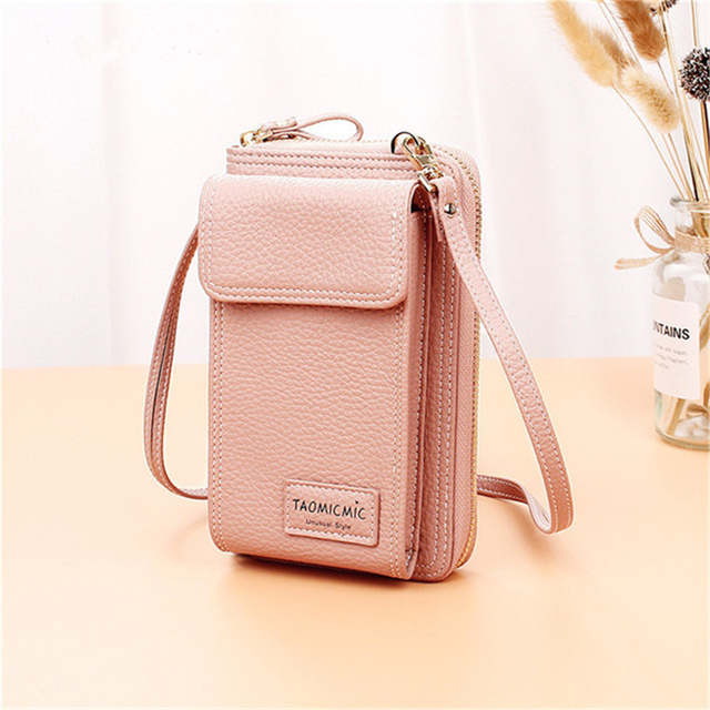 82dc72e47c207 Online Shop AEQUEEN Ladies Solid Faux leather Clutch Bag Small Crossbody Bag  For women Purses 4 Card Slot Card Bag Pink Green Mini Phone Bag |  Aliexpress ...