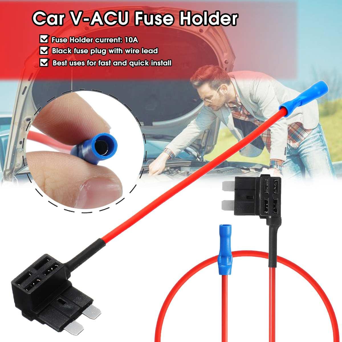 V Acu Fuse Holder Car Add Circuit Piggy Back Tap Standard Ato Atc Blade Fuse Boxe Holder Set