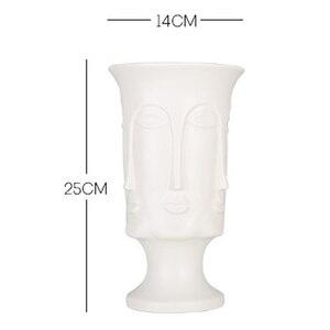 Image 5 - Nordic Minimalism Abstract Ceramic Vase Face Art Matte Glazed Decorative Head Shape Vase White Ceramic