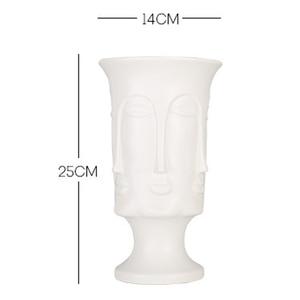 Image 5 - Nordic Minimalisme Abstracte Keramische Vaas Gezicht Art Matte Geglazuurd Decoratieve Hoofd Vorm Vaas Witte Keramische