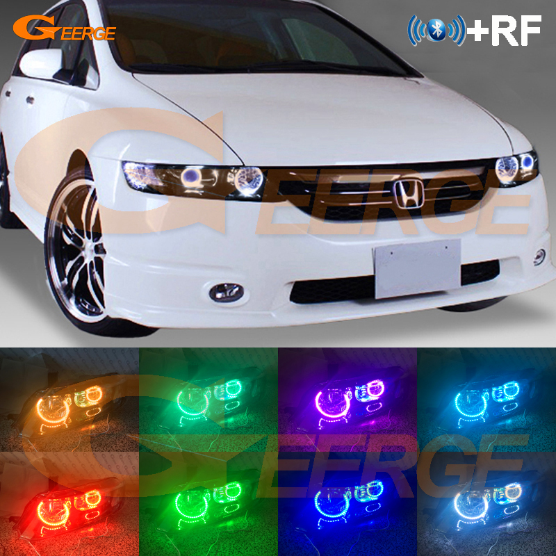 Pour HONDA ODYSSEY JDM RB1 RB2 2003-2008 xénon phare RF Bluetooth contrôleur multicolore Ultra lumineux RGB LED Angel Eyes kit