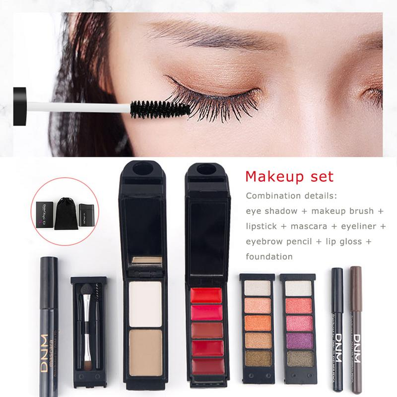 Makeup Set 8 Piece Set Waterproof Sweatproof Not Blooming Make-up Eye Cosmetics Naturally Lasting Makeup Tools Beauty Products