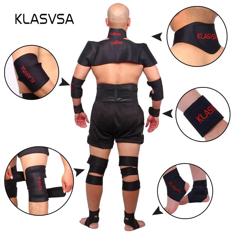 KLASVSA Magnetic Turmalin Gürtel Zurück Hals Lenden Schulter Selbst-heizung Therapie Haltung Correcter Klammer Gesundheit Pflege Schmerzen Relief