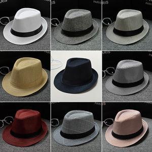 Новая классическая Соломенная Шляпа Fedora для мужчин и женщин, шляпа от солнца с широкими полями, Панама, летняя шляпа, аксессуары
