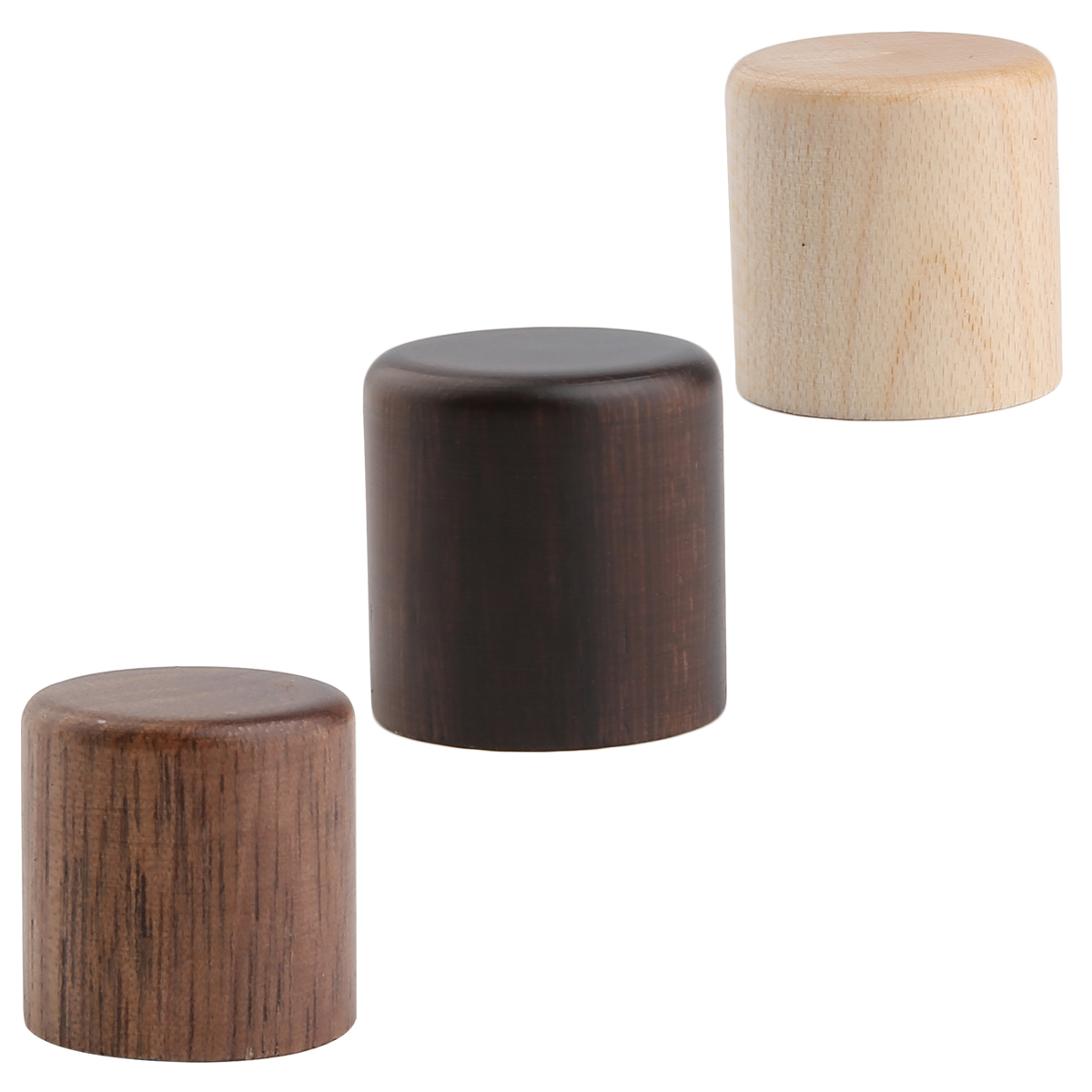 Dopro 2pcs Wood Knobs Tele Style Dome Knobs Wood Control Knobs Guitar Bass Wood Barrel Knobs Maple/Rose/Walnut Wood