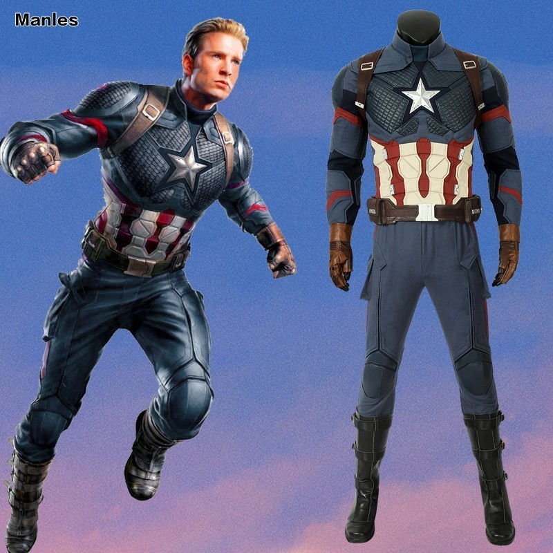 Costumes & Accessories Avengers 4 Endgame Captain America Costume Steven Rogers Cosplay Quantum Realm Adult Full Set Boots Halloween Christmas Carnival Beautiful In Colour Movie & Tv Costumes