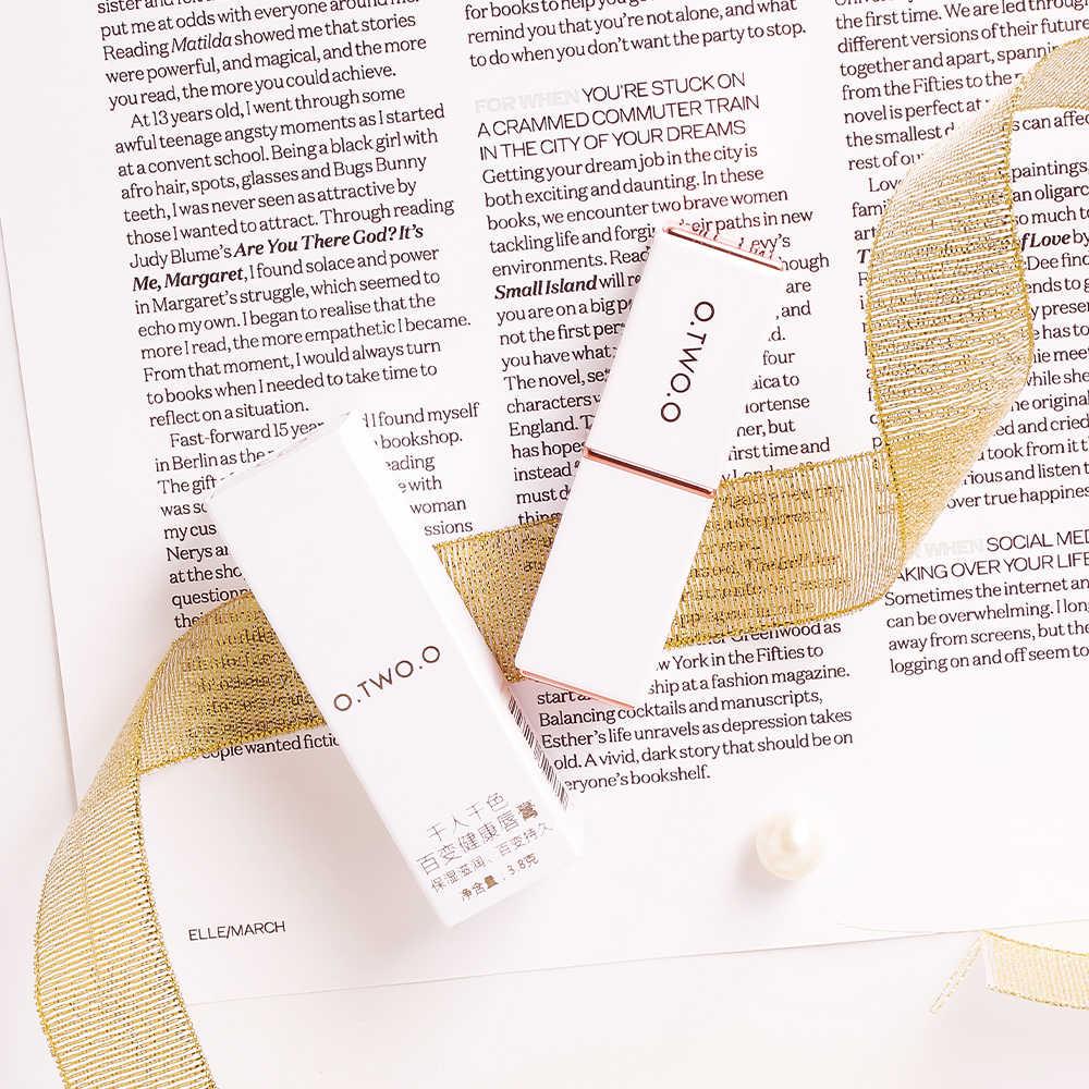 O dos O bálsamo labial temperado Cambio de pintalabios de larga duración hidratante lápiz labial Anti envejecimiento maquillaje Rosa cuidado de los labios