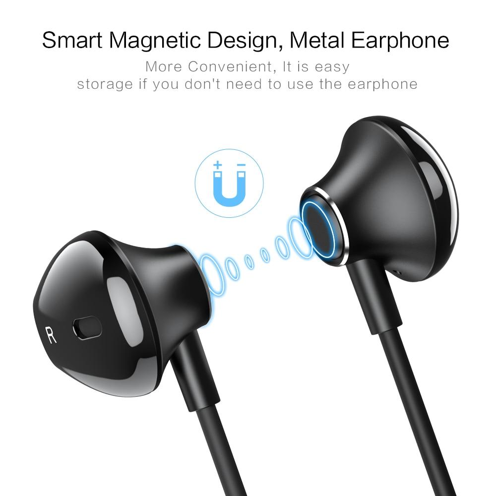 Leuk Floveme 2 In 1 Lading Oortelefoon In-ear Bass Magneet Oordopjes Oortelefoon Voor Bliksem Voor Iphone Telefoon Stereo Auriculares