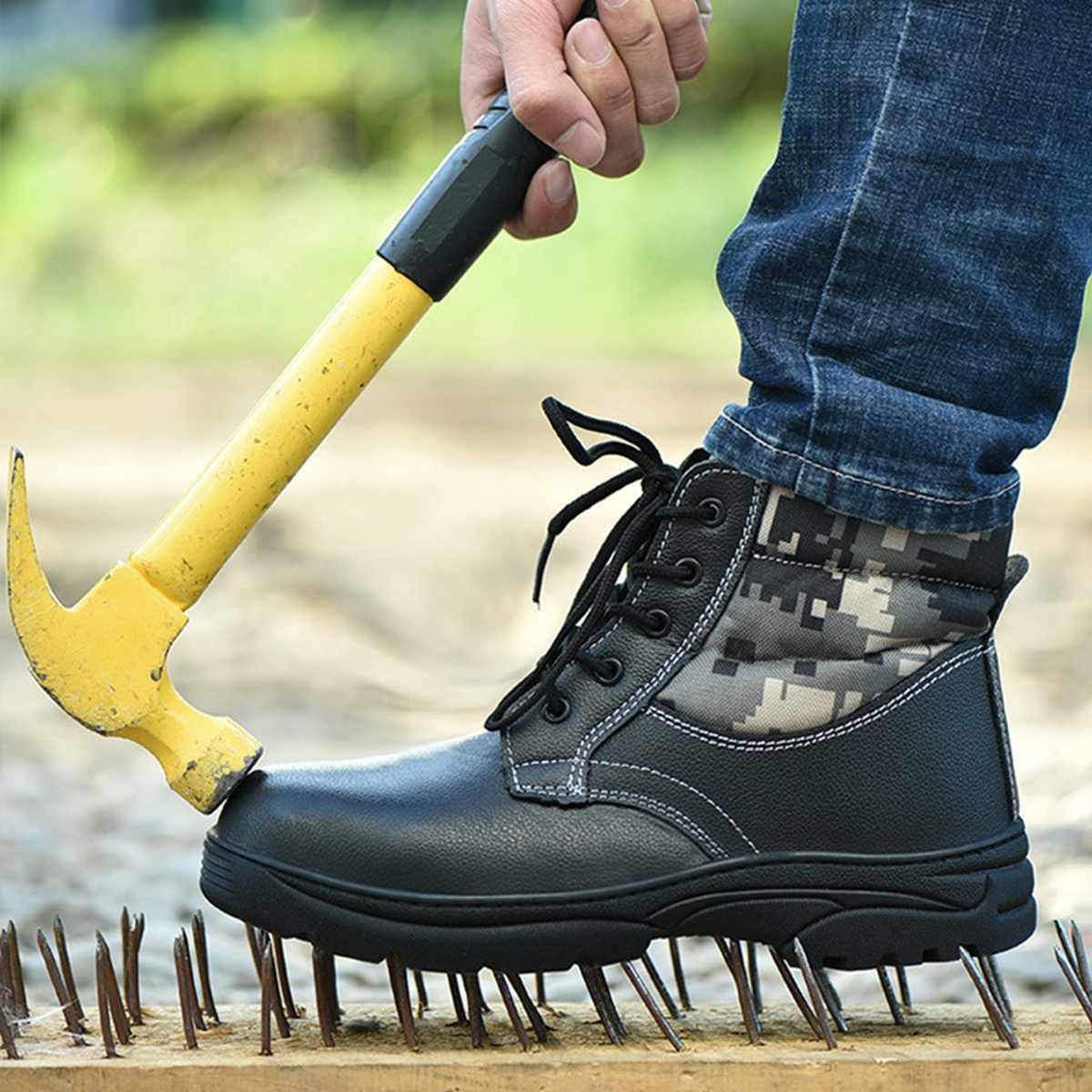 Camouflage Männer Arbeit Sicherheit Schuhe Atrego Stahl Kappe Anti-punktion Anti-smashing Arbeit Stiefel Industrielle Sicherheit Workshoes Turnschuhe