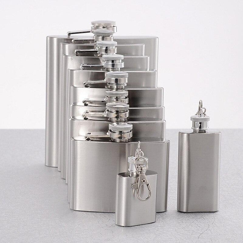 1-10 oz High Quality Wine Whisky Pot Bottle Hip Flasks Drinker Alcohol Bottle Portable Drinkware Stainless Steel