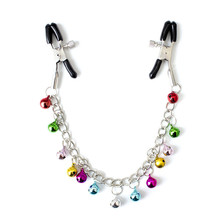 Colourful Bells Metal Long Chain Nipple Clamps Sex Toys Nipple Clips Adult Game Adjustable Breast Clamps Chain Adult Product цены