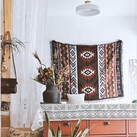 Home Decor Aztec Navajo Towel Mat Throw Wall Hanging Cotton Rugs Classic Woven 130x160cm Machine Washable Picnic Sofa Blanket
