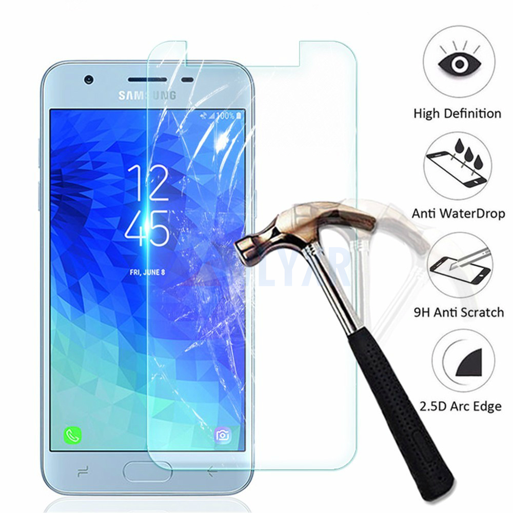 0 26mm 9H 2 5D Tempered Glass For Samsung Galaxy J3 J5 J7 J8 2017 2018 J4 J6 Plus Screen Protector on For Samsung S6 S7 Film HD in Phone Screen Protectors from Cellphones Telecommunications