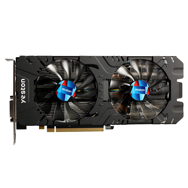 Yeston Radeon <font><b>Rx580</b></font> 2048Sp-8G Gddr5 Pci Express X16 3.0 Video Gaming Graphics Card External Graphics Card For Desktop image
