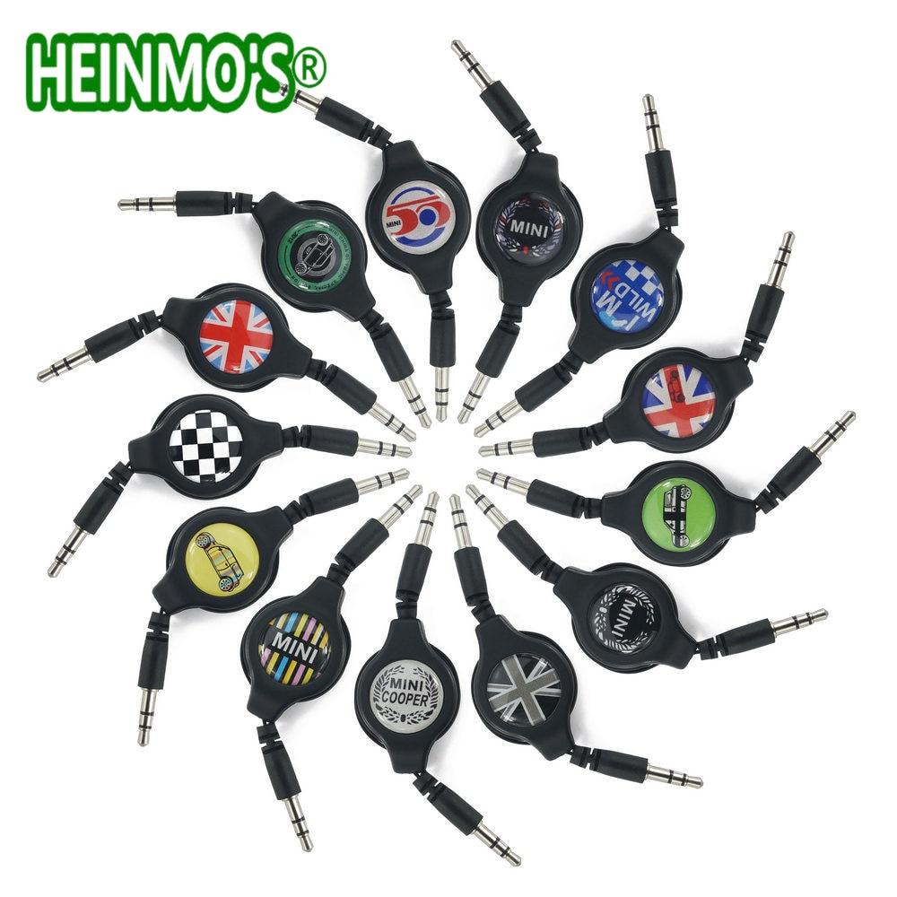 3.5mm 80cm Car AUX Audio Cable Wire Line For MINI Cooper One S JCW Countryman Clubman R55 R56 R57 R58 R59 R60 R61 F55 F56 F60