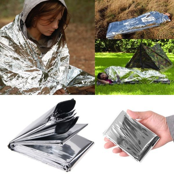 Blanket Bushcraft-Treatment Foil First-Aid Survive Outdoor Camp-Space Emergent Heat-Rescue-Mylar-Kit