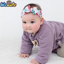 Wecute Newborn Headband Super Soft Printed Child Toddler Baby Girl Hair Accessories Infant Bow Nylon Headwear Band Turban