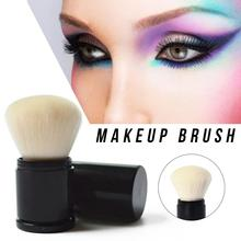 1PCS Portable Mini Retractable Makeup Brush Face Powder Contour Foundation Blush Professional Soft Make up Brushe