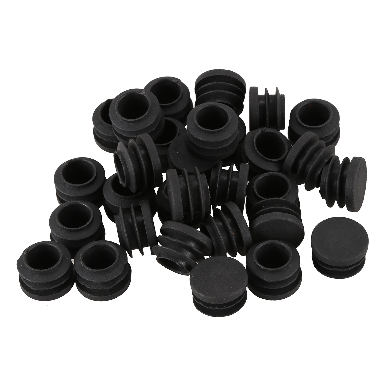 Fashion-Round Table Chair Leg Tube Pipe Insert End Cap 19mm Dia 30pcs BlackFashion-Round Table Chair Leg Tube Pipe Insert End Cap 19mm Dia 30pcs Black