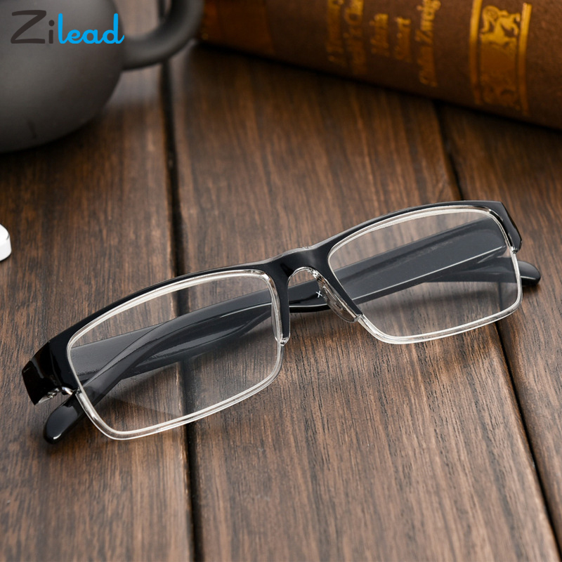Zilead Fashion Resin Sturdy Reading Glasses Men Women Presbyopic Glasses TR90 Materia Ultralight Parents Reading Eyeglasses