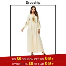 34a9c1facb Dropship Dress Women 29 Styles Dresses Long Maxi Plus Size Vintage Vestidos  Verano 2019 Robe Femme Muslim Embroidery Print