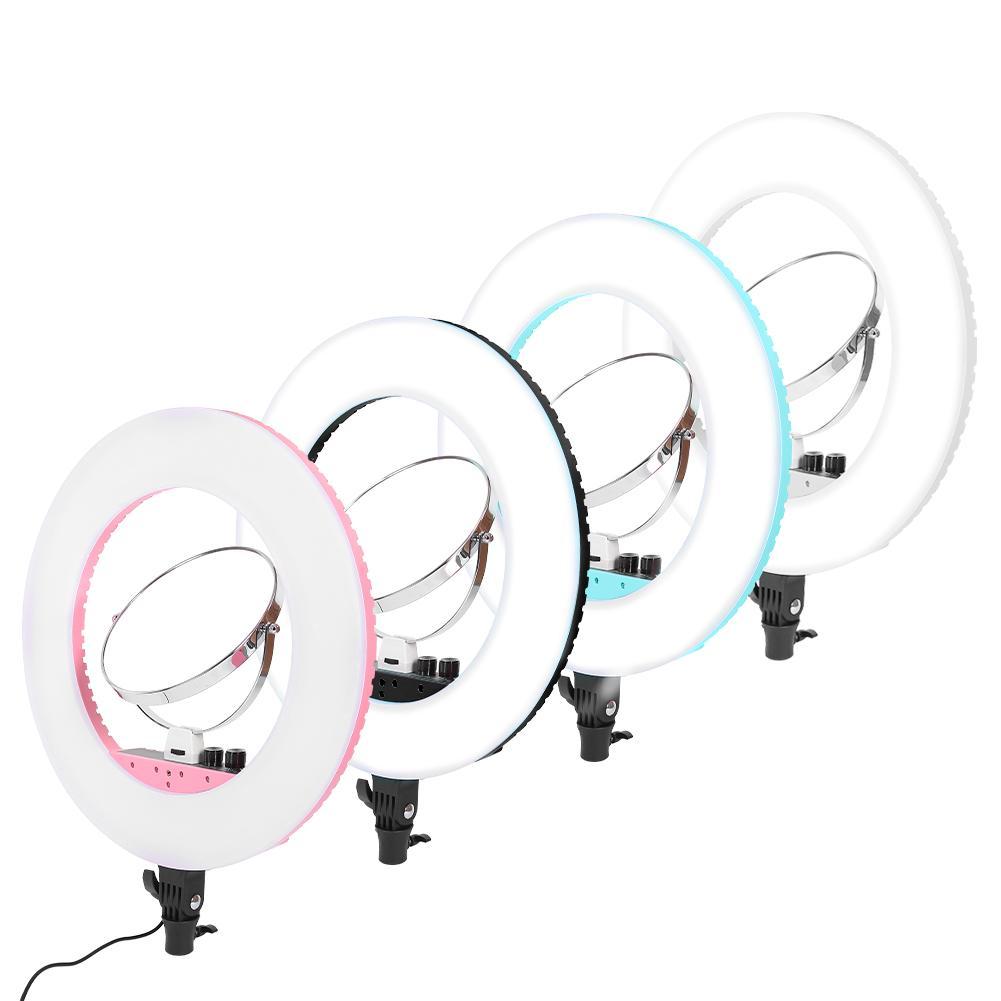 Зеркало для макияжа с регулируемой яркостью светодиодный кольцевой светильник для селфи Фото Видео живой светильник ing 3200 K 5600 K