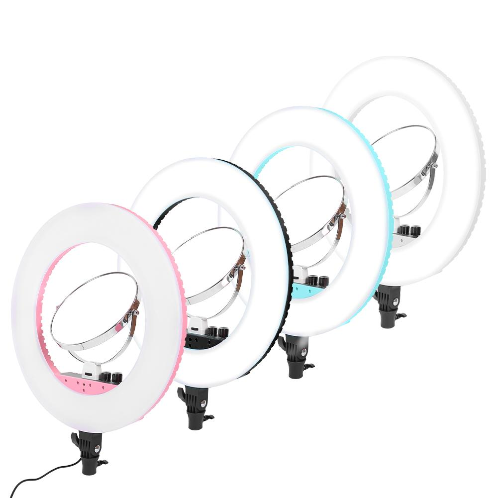 Makeup Mirrors Dimmable LED Selfie Ring Light Photography Video Live Lighting 3200K 5600K