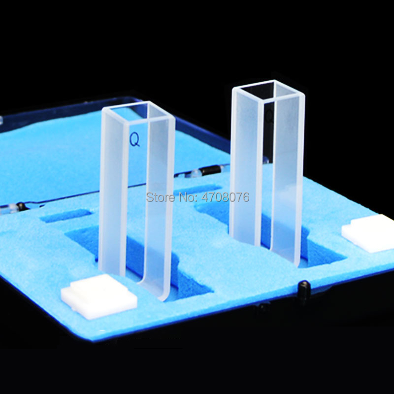100mm flux 1pc/box Quartz Glass Cuvette Cell with cover for chemical  spectrum Capped Silica cuvette Spectral analysis instrument