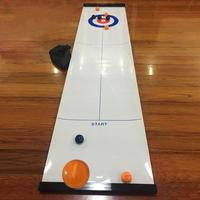 Bowling shuffle table Shuffleboard Curling Board Game for Travel School Bar Family Training Puzzle Children Game Toys 28 * 120cm