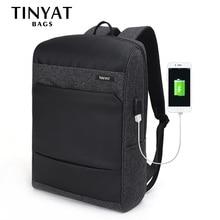 TINYAT мужские рюкзаки для ноутбука 15,6 USB сумка для компьютера мужской рюкзак для путешествий школьная сумка рюкзак mochila Escloar