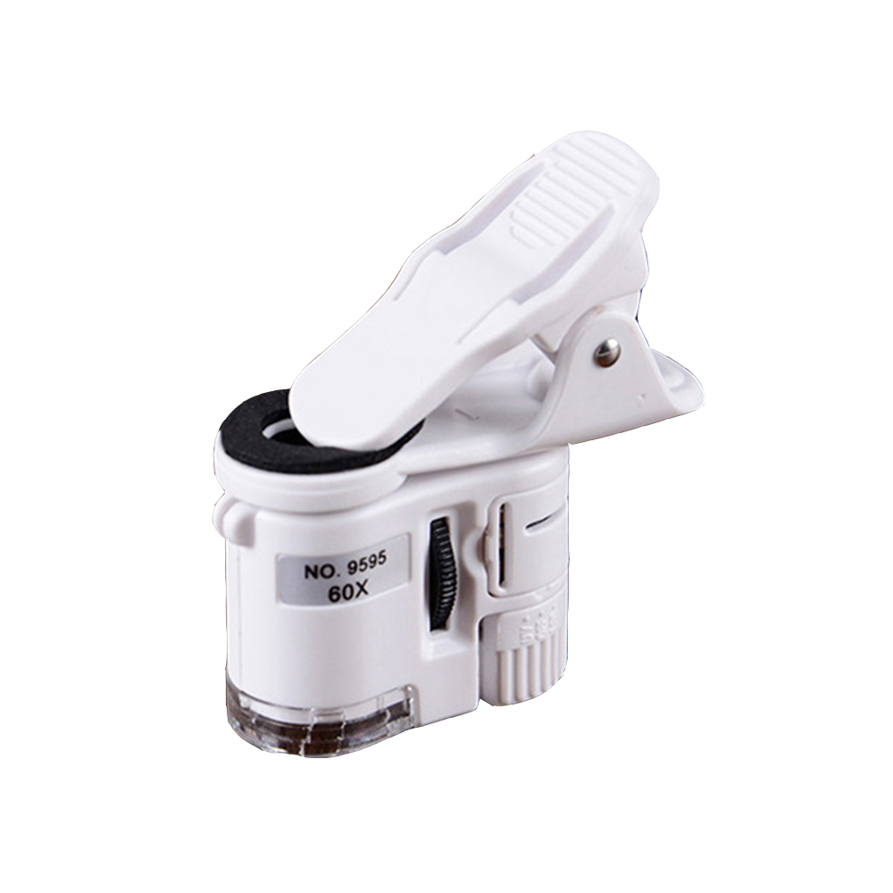 60X Mobile Phone Magnifier Lens LED Camera Clip Microscope For Mobile Phone Lens