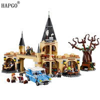 New Harry Potter Serises 843pcs Hogwarts Whomping Willow Compatible Legoingly Harry Potter 75953 Blocks Toys For 8 14 Children