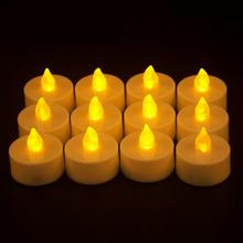 Tea-Light Velas Battery Led Candle Electric Chandelle Bougie Flickering Christmas-Party