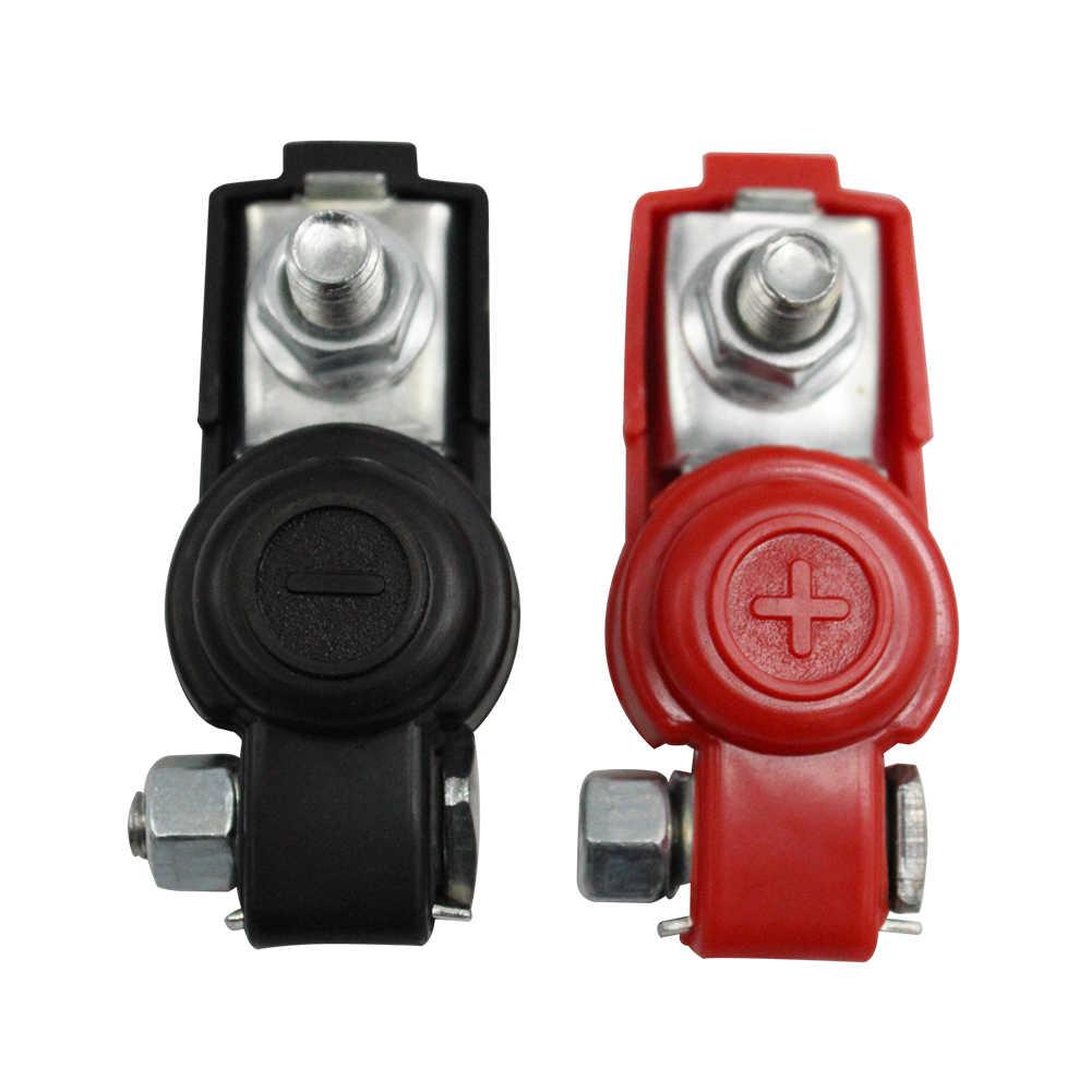 Abrazadera de terminal de batería de coche Clip conector ajustable Positivo Negativo accesorios de coche