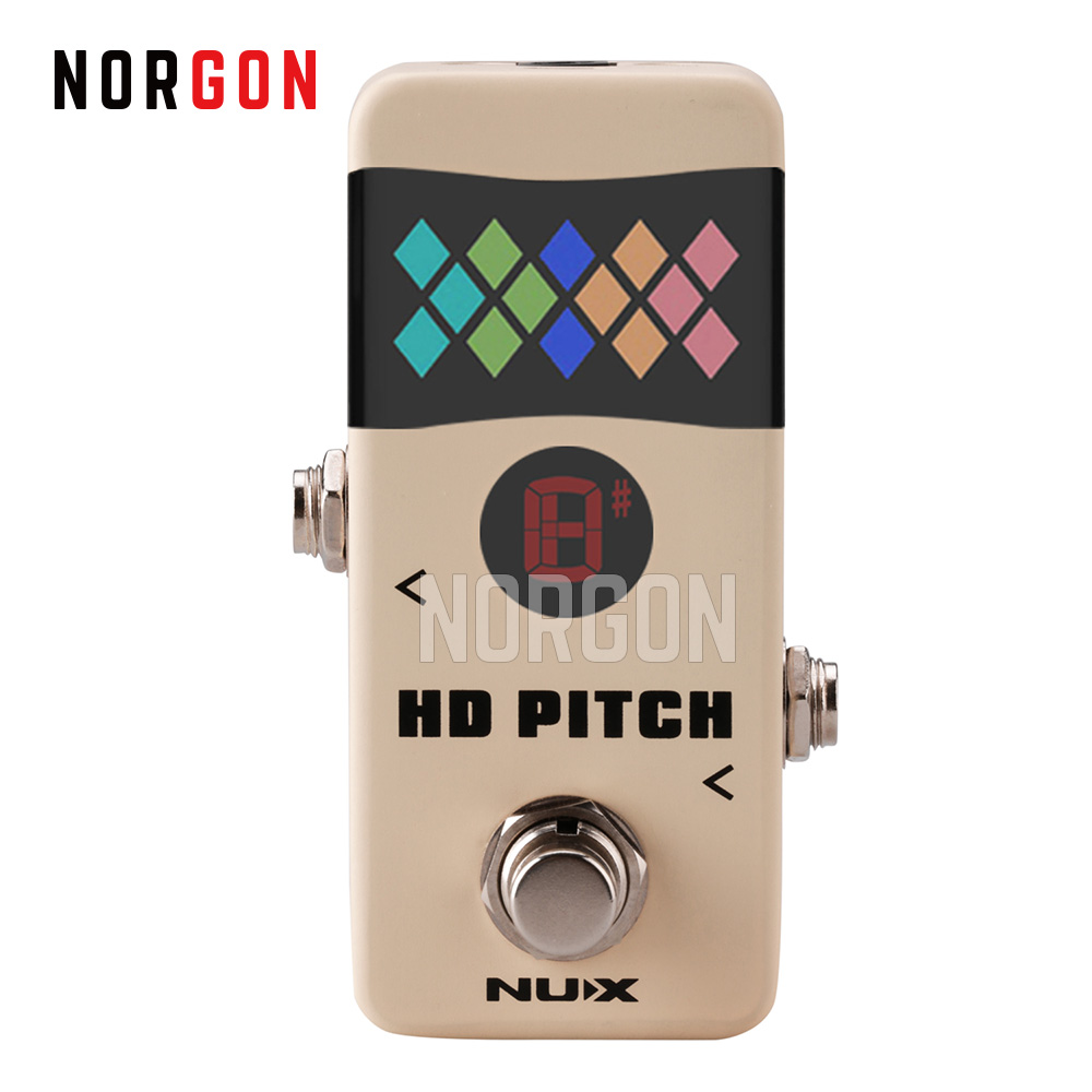 NUX HD PITCH Mini Guitar Pedal Tuner Precise Tuning Signal Correction Buffer Bypass True Bypass Arrow Tuning Strobe Modes