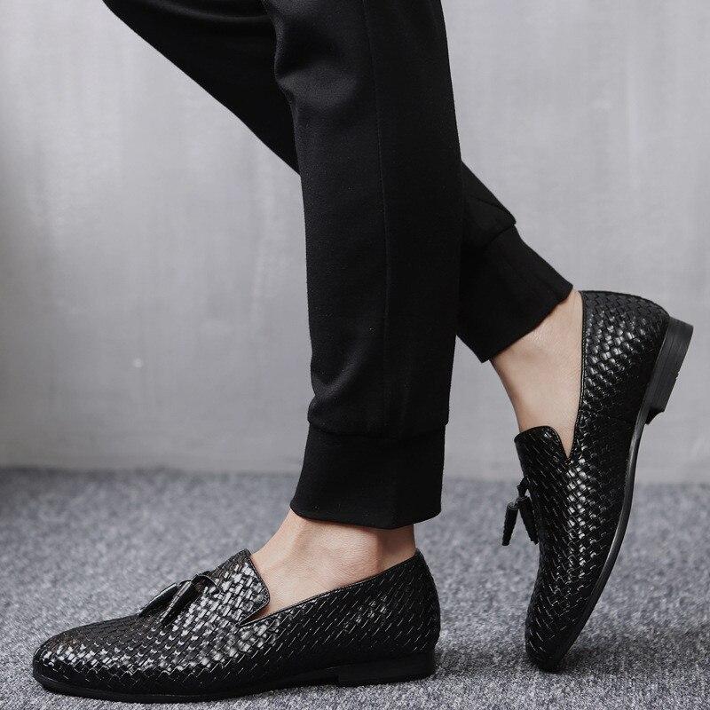 Men Shoes Breathable Men Loafers Luxury Tassel Weave Comfortable  Mens Flats Men Oxford Casual Shoes Big Size 48Men Shoes Breathable Men Loafers Luxury Tassel Weave Comfortable  Mens Flats Men Oxford Casual Shoes Big Size 48