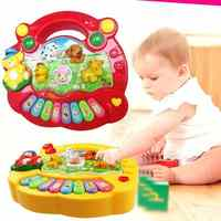 2019 Hot Sale Musical Instrument Toy 15 Scale Piano Toys For Music Early Education Animal Music Toys For Children The Best Gift