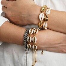 New Boho Shell Jewelry Bracelets For Women Delicate Gold Color Easy Casing Finding Handmade Bracelet Dropshipping