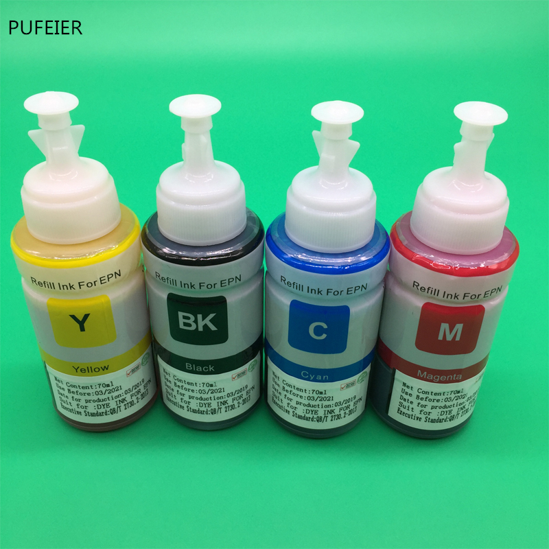 Image 3 - 4PCS 70ML T664 OEM Refill Dye Ink Kit For Epson L220 L301 L303 L310 L313 L351 L353 L358 L360 L363 L365 L455 L551 L558 L585 L1300-in Ink Refill Kits from Computer & Office