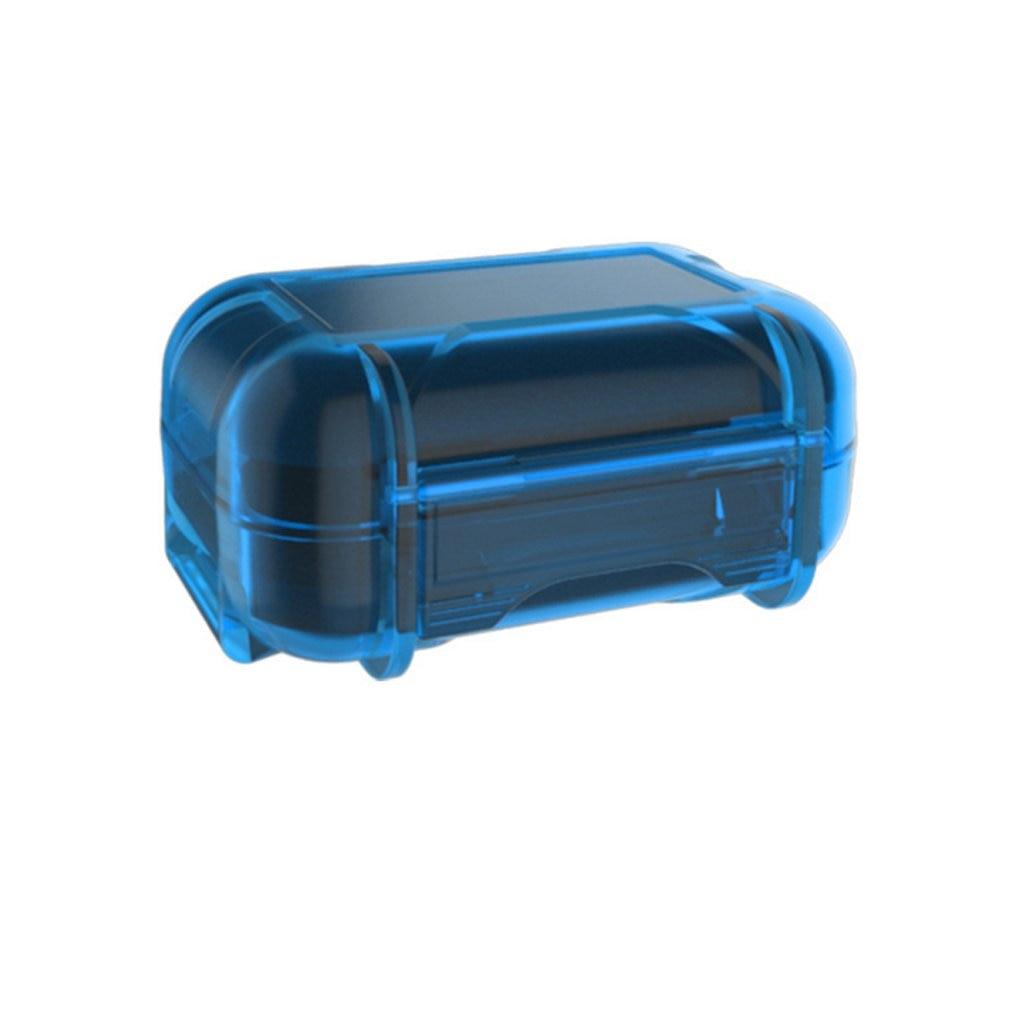 Portable ABS Resin Waterproof Box Drop Resistance Protective Case Headphone Storage Box Earphone Storage Bag